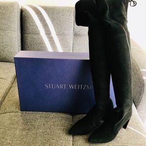 Stuart Weitzman Black Highchamp Suede OTN Boots 7